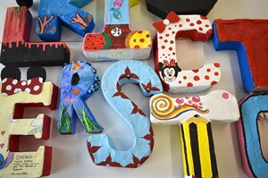 Year 9 Art work - 3D Letters