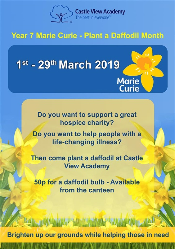 Marie Curie Plant a Daffodil Month